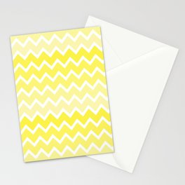 Yellow Ombre Chevron Stationery Cards