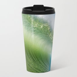 BlueGreen Wave Travel Mug