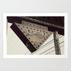 Open Art Print