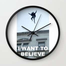 I Want to Believe in Sherlock Holmes Wall Clock