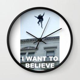 I Want to Believe in Sherlock Holmes Wall Clock
