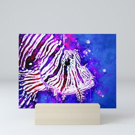 poisonous exotic lionfish ws Mini Art Print