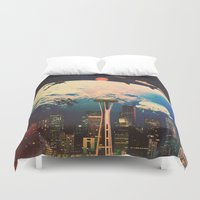 future Duvet Covers featuring Future. by Polishpattern