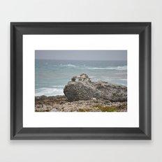 Rocks-Sea Framed Art Print