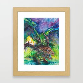 Guardian Dragon Framed Art Print
