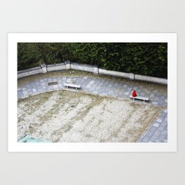 Red Covered Loneliness Art Print