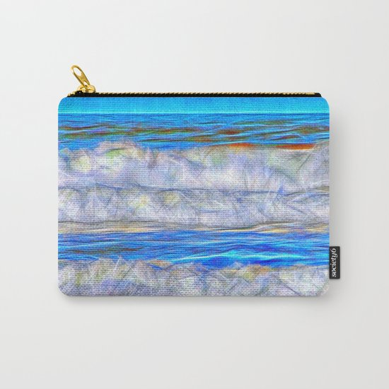 Abstract beautiful ocean waves Carry-All Pouch