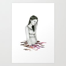 Nebula Lake Print Art Print