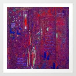 Dreams of Persia with Rumi Healing Words Art Print