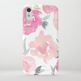 Muted Floral Watercolor Design  iPhone Case