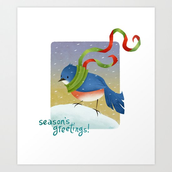 Season's Greetings 2012 Art Print