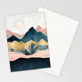 Plush Peaks Stationery Cards