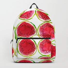 Watercolor watermelon fruit illustration Backpack