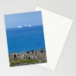 King Penguins in front of an iceberg Stationery Cards