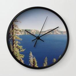 Beautiful Blue Crater Lake Wall Clock