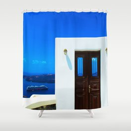 Door in the paradise Shower Curtain