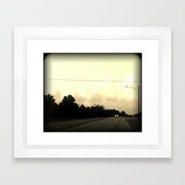 Headlights Framed Art Print