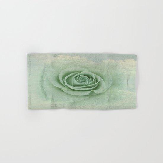 Dreamy Vintage Floating Rose Hand & Bath Towel