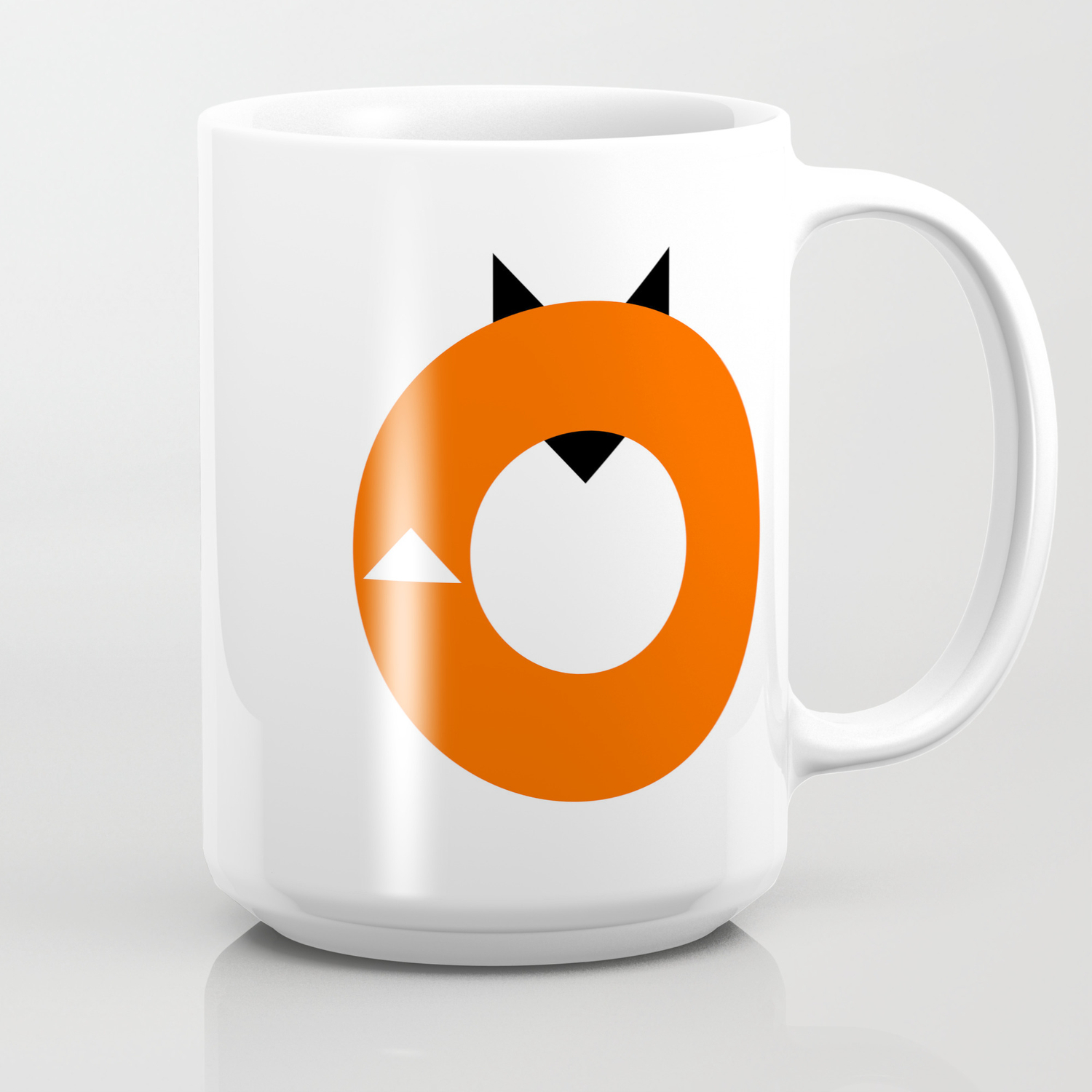 A Most Minimalist Fox Coffee Mug By Nicholasely Society6