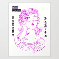 Steph Darling Tattoos Designed at The Nines Tattoo and Art Parlor  Art Print