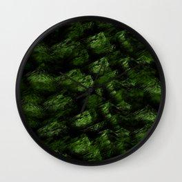 Dark  Abstract  Greens Wall Clock