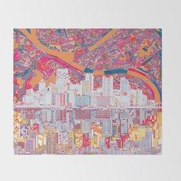 pittsburgh city skyline Throw Blanket
