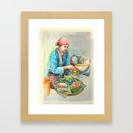 The javanese salad or pecel Framed Art Print