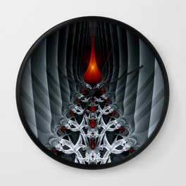 Fractal Art by Sven Fauth - Path to hell Wall Clock