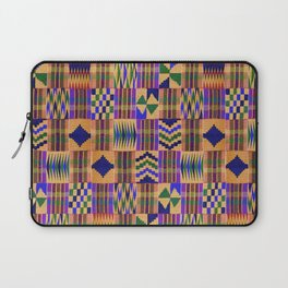 Kente Cloth // Anzac Yellow & Persian Blue Laptop Sleeve