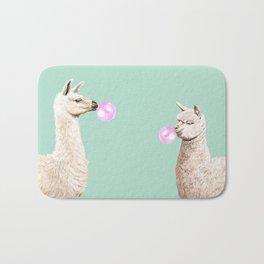 Llama and Alpaca Bubblegum Gang Bath Mat