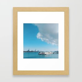 Spain's Port of Las Palmas on a Sunny and Bright Blue Day Framed Art Print