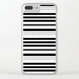 Stripes and dots pattern Clear iPhone Case
