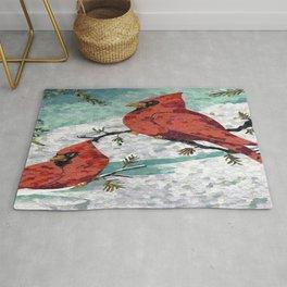Cardinals In Winter Rug