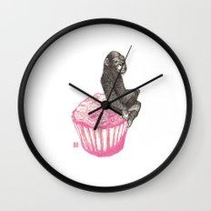 Muffin Monkey Wall Clock