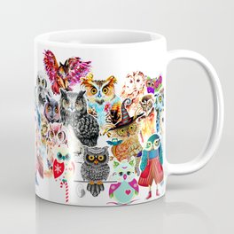OWLS COLLAGE Coffee Mug