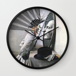 OBJECTS IN THE MIRROR ARE CLOSER THAN THEY APPEAR Wall Clock
