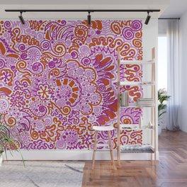 Pink + Orange = YES Wall Mural
