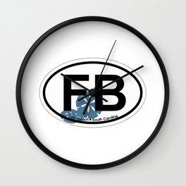 Folly Beach - South Carolina. Wall Clock