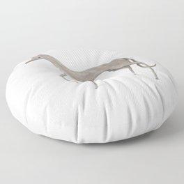 Whippet Portrait Floor Pillow