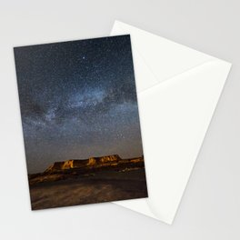 Across the Universe - Milky Way Galaxy Above Mesa in Arizona Stationery Cards