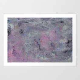 Watercolor abstract background. Paint stains, streak, scuffs, brush strokes, curves Art Print