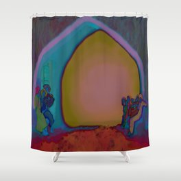 """""""Blue Night"""" Old Town  Shower Curtain"""