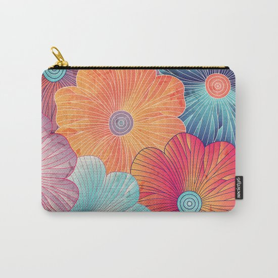 Big flowers Carry-All Pouch