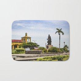 Statue of Cordoba by Lake Nicaragua in Granada Bath Mat