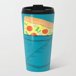 Emergency supply - pocket pizza Metal Travel Mug