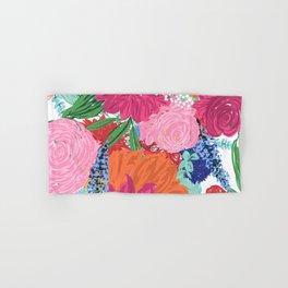 Pretty Colorful Big Flowers Hand Paint Design Hand & Bath Towel