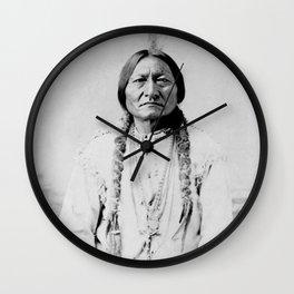 Sitting Bull Native American Wall Clock