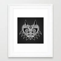 majoras mask Framed Art Prints featuring Sugarskull / Majoras mask / black'n'white by tshirtsz