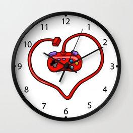 joystick heart Wall Clock