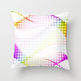 abstract colorful tamplate Throw Pillow